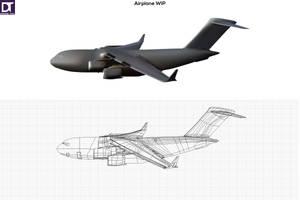 Airplane WIP by artdigitalazax