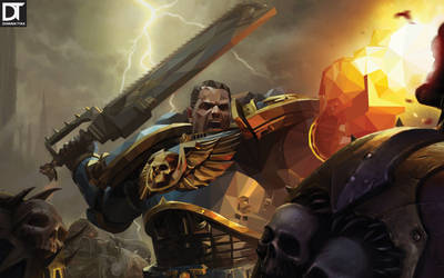 Warhammer Space Marines - Low Poly by artdigitalazax