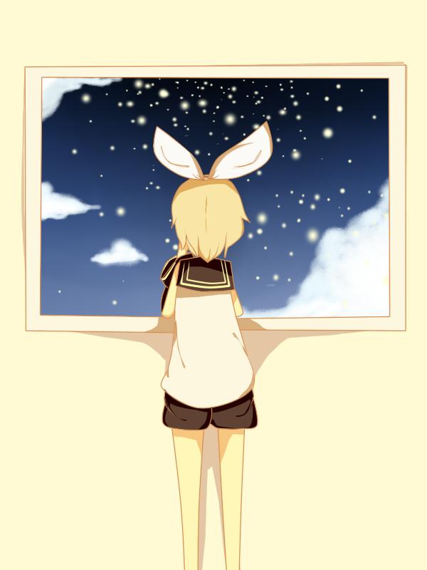 Kagamine Rin - The night sky by JiLL29
