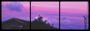 purple sunset divider . f2u