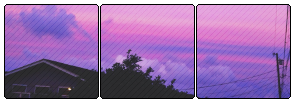 purple sunset divider . f2u by pastel-meme