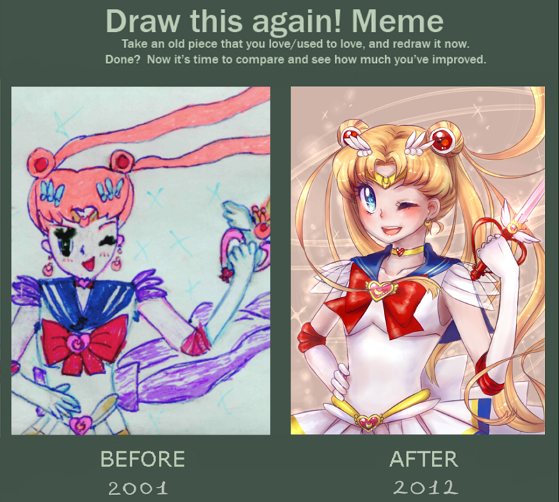 Draw this again meme - SailorMoon by Next--LVL