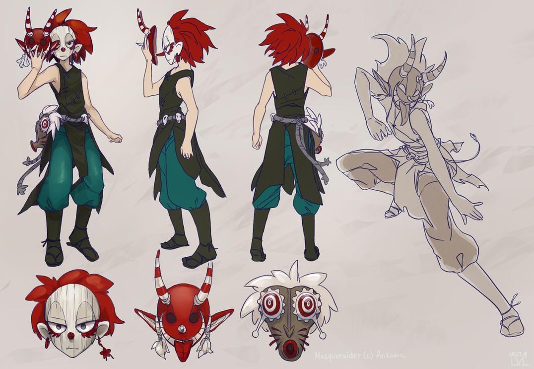 Wakfu Anime Character Design : Wakfu masqueraider fan reference by next lvl on deviantart
