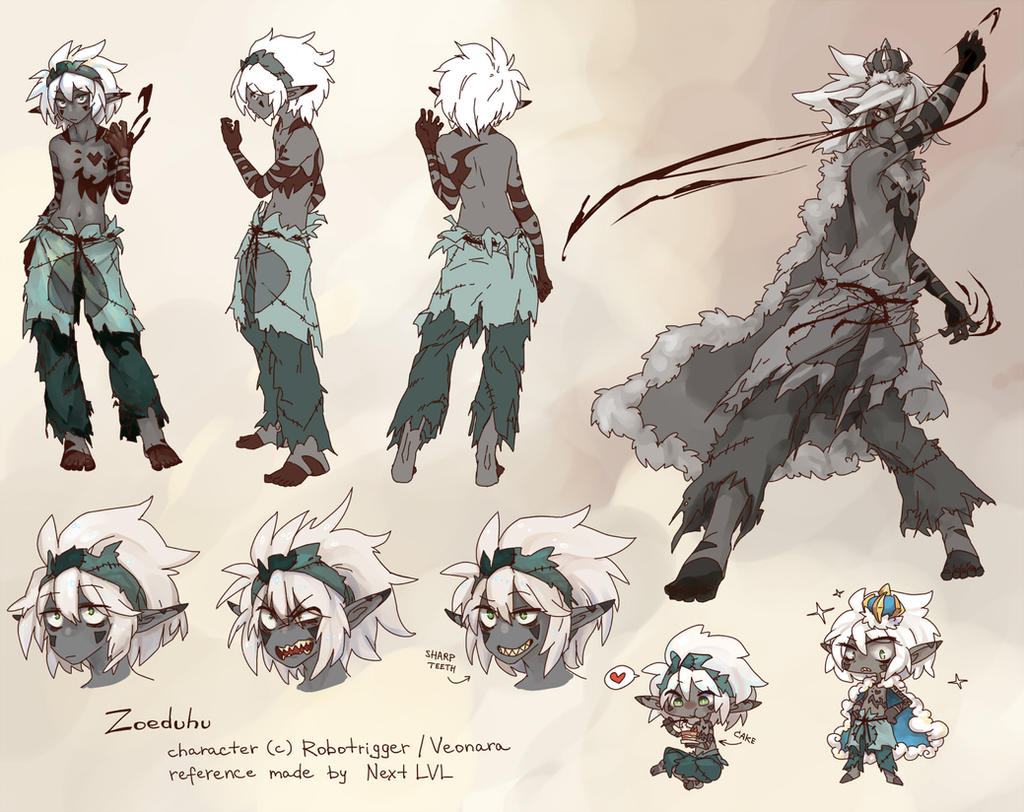 Wakfu Anime Character Design : Zo reference page by next lvl on deviantart