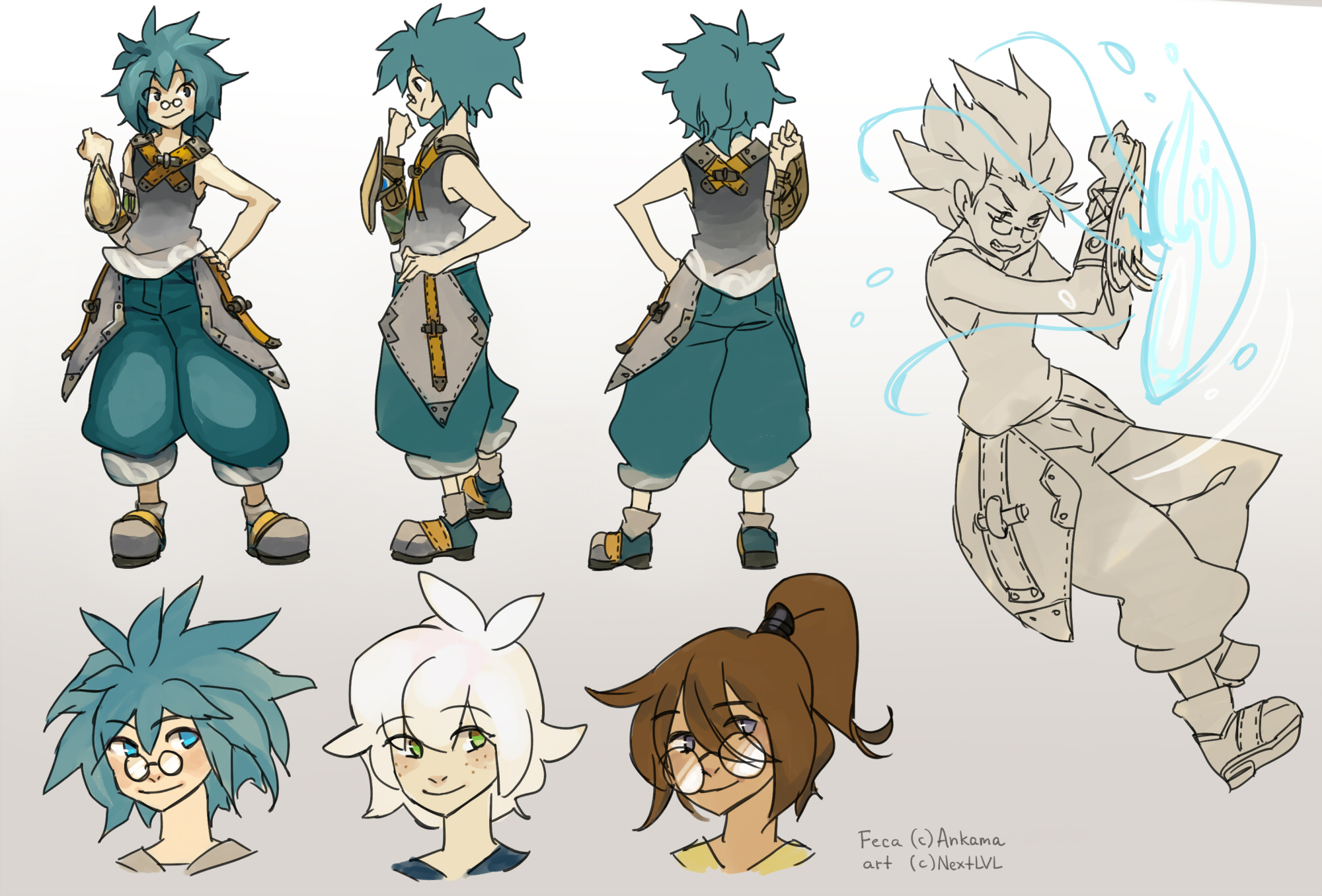 Wakfu Anime Character Design : Wakfu feca fanmade reference page by next lvl on deviantart