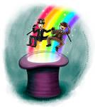 Magical Top Hat Rainbow Slide