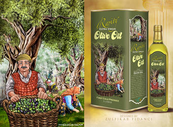 Oliveoil Packaging by delizm