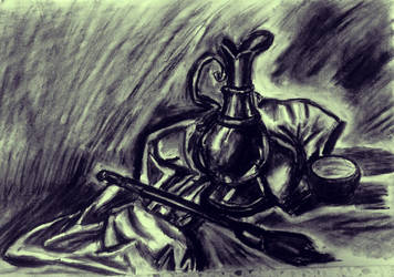 Charcoal paint supplies by awdrgy818