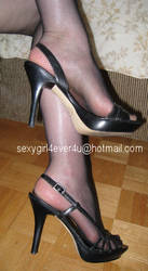 Fishnets and heels by sarasaucyusedpanties