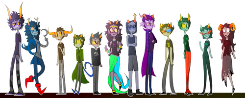 My headcanon size chart bc why not. by EHLBay04