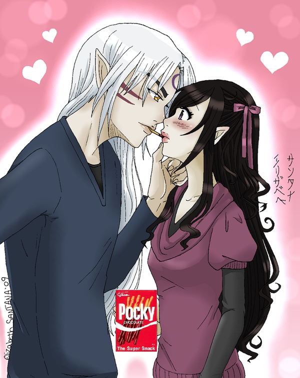 Pocky kisses by Reenigrl