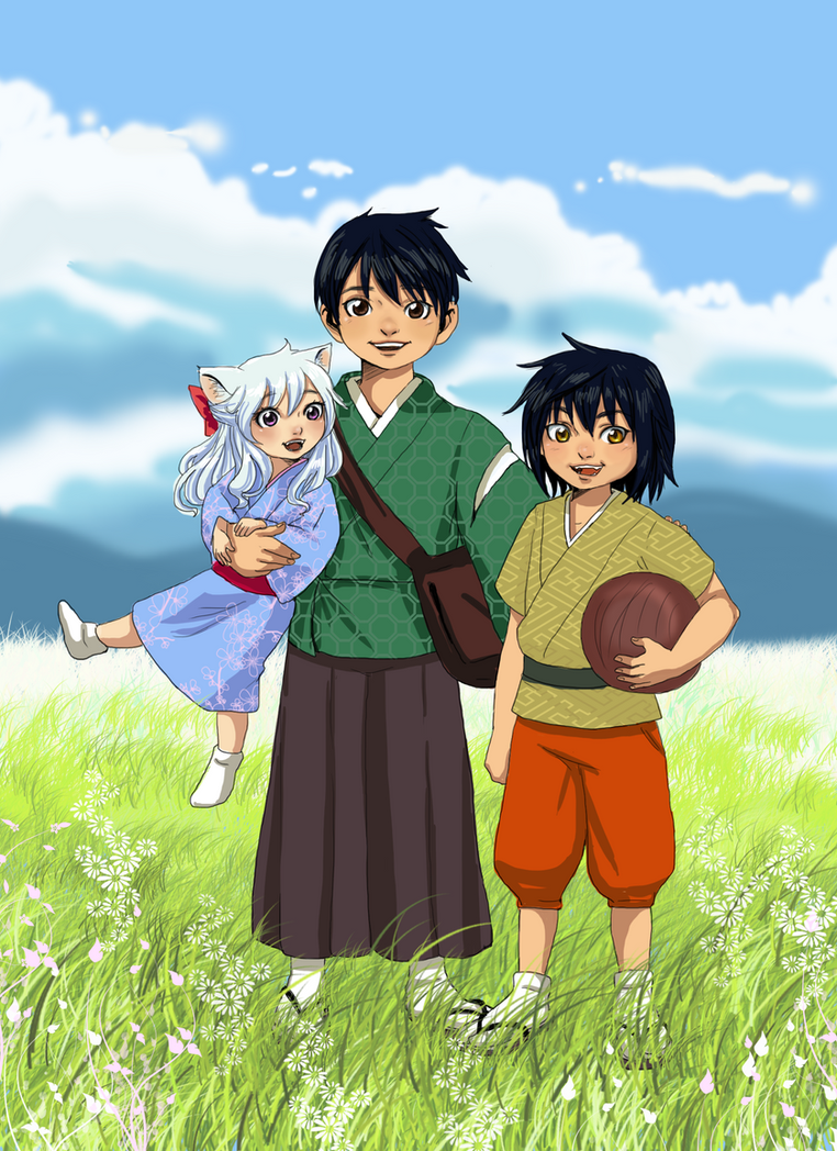 Inu kids by Reenigrl on DeviantArt Inuyashas Family With Kagome