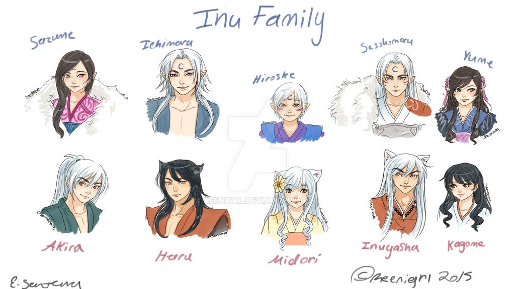 Inu Family by Reenigrl