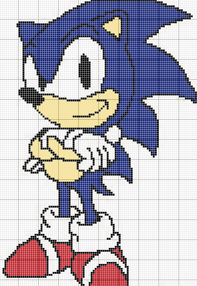 Sonic The Hedgehog Cross Stitch Pattern by ...