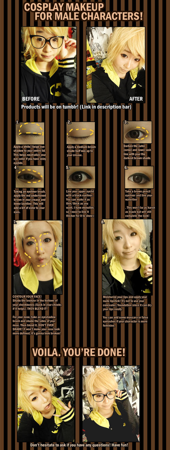 Cosplay Makeup for male characters by theStarktorialist