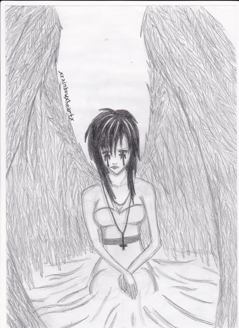 Sad Anime Angel Girl By XrainbowXheartX On DeviantArt
