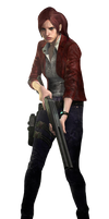 Claire Redfield-RE Revelations 2 PNG 1
