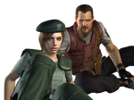 Jill Valentine and Barry Burton-REmake PNG