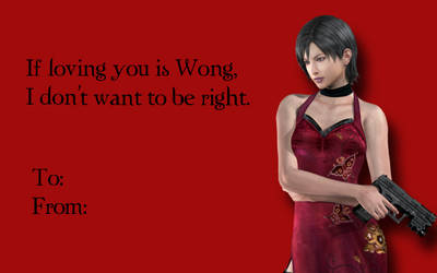 Tacky RE Valentines-Ada Wong