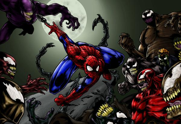 SPIDER-MAN VS THE SYMBIOTES by CRYPTID-MAN on DeviantArt