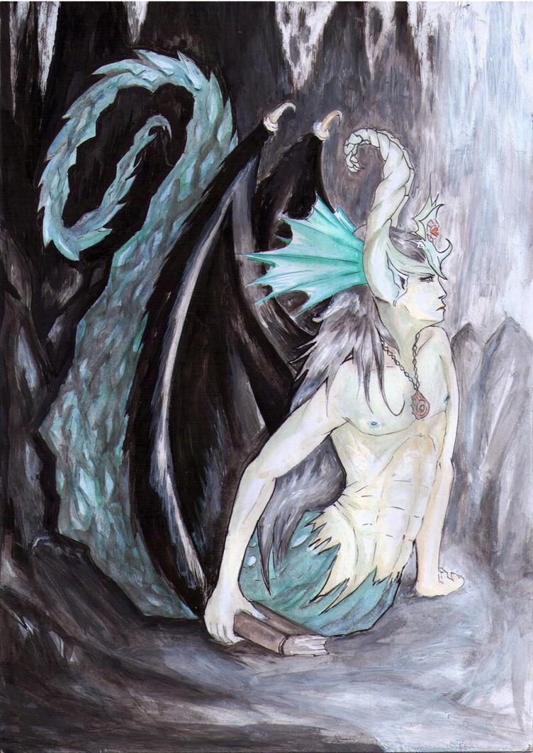 Fantasy - Naga themed character - Traditional by Akemi-Nai
