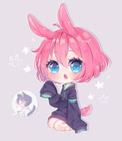 Pink Bunny by mel0des
