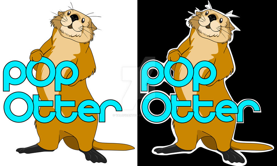 Pop Otter Logo by Valeficent616
