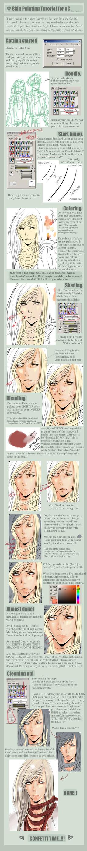 Skin Painting Tutorial for oC by kayoru