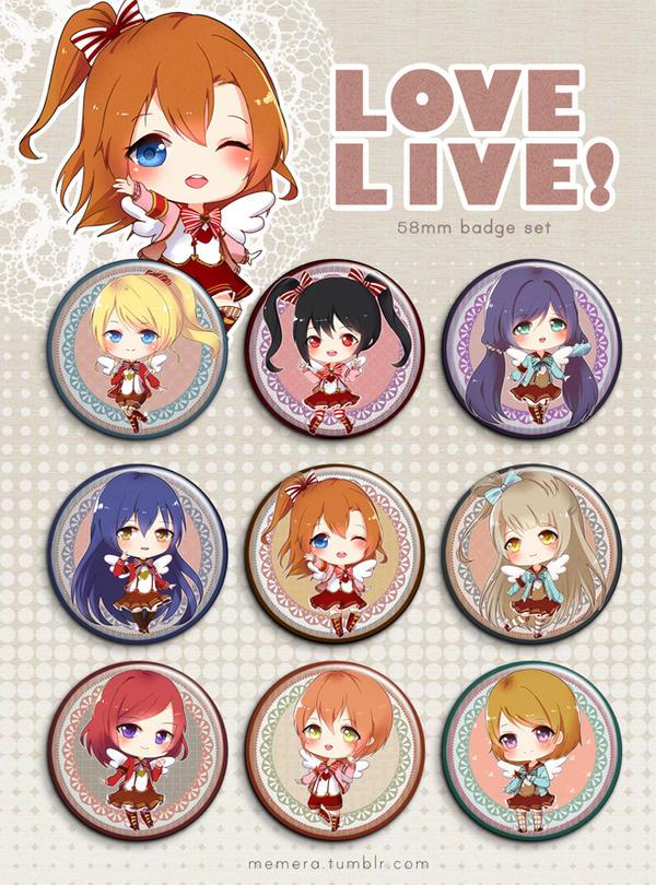Love Live Button Set by kayoru