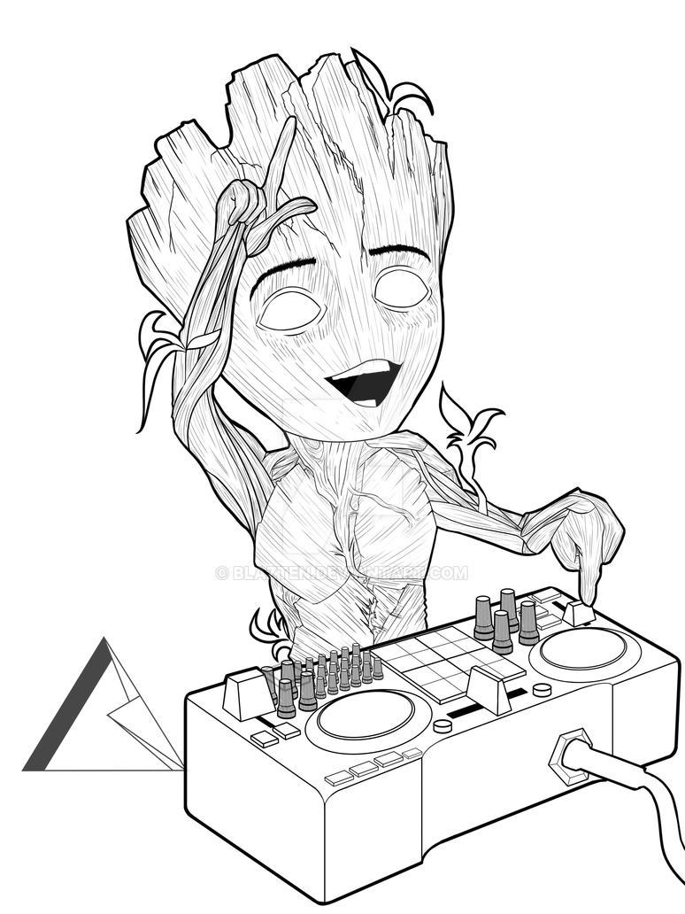 Baby Groot Process!! by Blazten