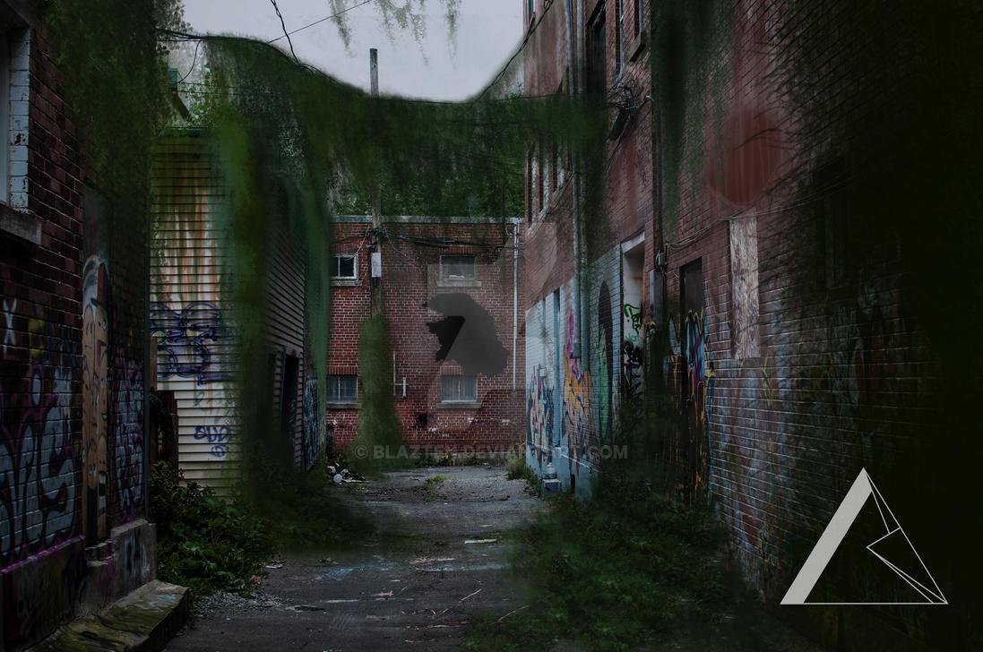 Street (Mattepainting) by Blazten