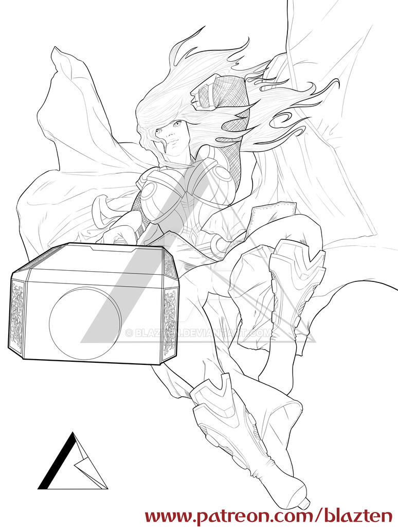 Thor Girl! Ink by Blazten