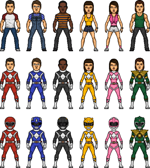 Mighty Morphin Power Rangers by MicroManED
