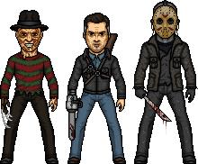 Freddy vs Jason vs Ash by MicroManED