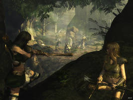 Elven Ambush by viciouscircle75