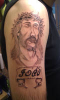 Christ memorial tattoo by madbadger69