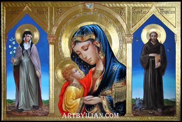 1 Santa Chiara La Madonna E San Francesco D Assis by ilian00