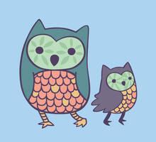 Owls by nekofoot