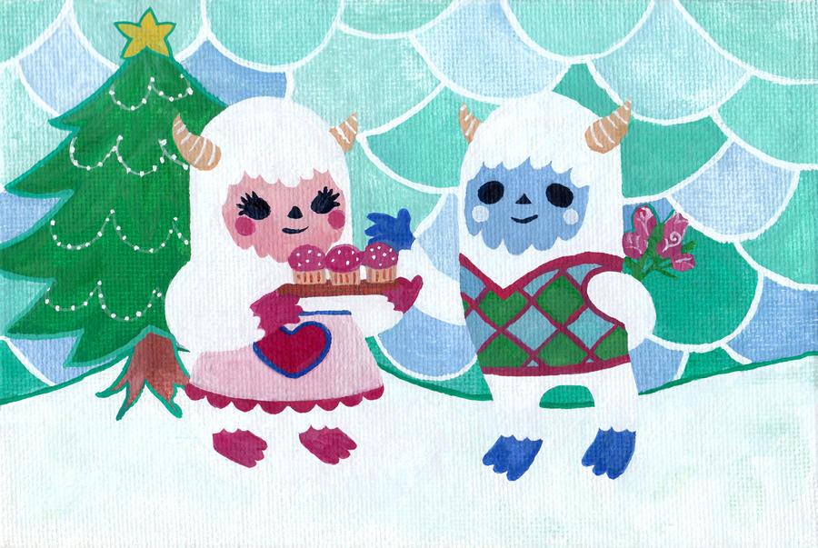 Yeti Christmas Card by nekofoot on DeviantArt