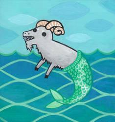 Capricorn: the Mergoat by nekofoot