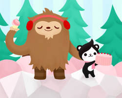 Happy V Day: Quatchi and Miga by nekofoot