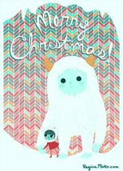 Yeti christmas card by nekofoot