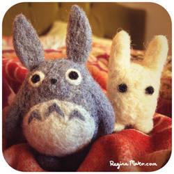 Totoro needle felt by nekofoot