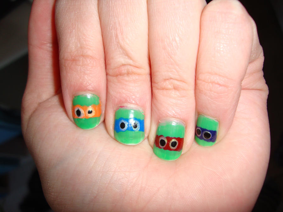 Ninja turtle nail art by dittejochumsen on DeviantArt