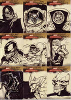 marvel sketch cards 25to33 by anjinanhut
