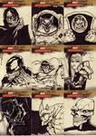 marvel sketch cards 25to33