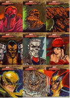 marvel sketch cards 34to42 by anjinanhut