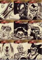 marvel sketch cards 43to51 by anjinanhut