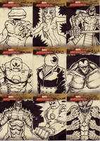 marvel sketch cards 79to87 by anjinanhut