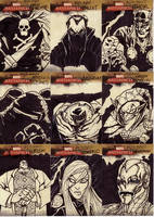 marvel sketch cards 115to123 by anjinanhut